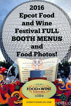 2016 Epcot Food and Wine Festival FULL BOOTH MENUS and Food Photos!