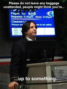Alan Rickman look-a-like... Snapes on a plane