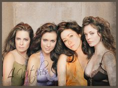 The Charmed Sisters, Alyssa Milano as Phoebe Halliwell, Holly Marie Combs as Piper Halliwell, Shannen Doherty as Prudence Halliwell, and Rose McGowan as Paige Matthews-Halliwell Serie Charmed, Charmed Tv Show, Charmed Sisters, 4 Sisters, Best Tv Shows, Favorite Tv Shows, Favorite Things, Movies Showing, Movies And Tv Shows