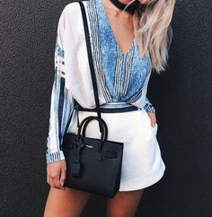 Love. Blue stripes / white contrast  Chic style