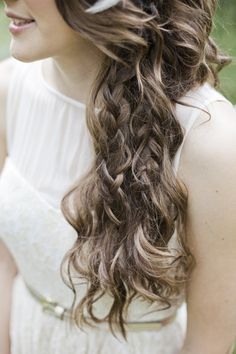 messy braids and curls- anything with the word messy in it would work with my hair really!