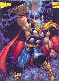 John Romita Jr Thor Cover Wizard Press Magazine Wizard: The Comics Magazine 80 B Marvel Comics Superheroes, Marvel Art, Marvel Heroes, Marvel Avengers, Comic Books Art, Comic Art, John Romita Jr, The Mighty Thor, Marvel Comic Universe