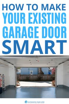 Are you thinking about how to make your existing garage door smart? Well, here are some basic requirements that I found to go from dumb to smart. Garage Door Security, Smart Garage Door Opener, Old Garage, Garage Doors, Garage Door Manufacturers, Best Smart Home, Smart Door Locks, Smart Home Security, Smart Home Technology