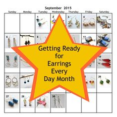 Learn how to get prepared for Earrings Every Day Month, including the tools and supplies you'll need, earring findings including links to tutorials to make your own earring findings Earring Tutorial, Head Pins, How To Make Earrings, Get Ready, Make Your Own, September, Challenge, Tools, Learning