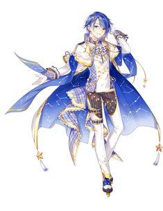 Vocaloid Kaito, Kaito Shion, Character Art, Character Design, Kaai Yuki, Fan Art, Anime Hair, Pastel Goth, Anime Guys