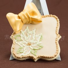 Embroidered Cookies | ... to make an elegant brush embroidered poinsettia sugar cookie card