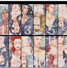 The smexy organization... (;  Minus No. 12... *scribbles over Larxene* T_T