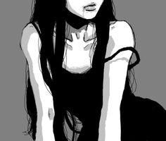 Manga Girl, Anime Art Girl, Manga Anime, Dark Anime Girl, Gothic Anime, Aesthetic Art, Aesthetic Anime, Japon Illustration, Arte Obscura