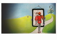 """Ilustración """"Autoimagen"""" 2014 Por Verónica Jimeno Valdepeñas"""