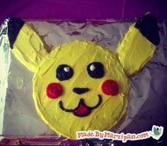 Make a Pikachu Pokemon cake without a special pan.