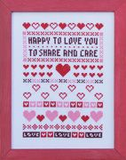 Happy to Love You - stitching for Valentine
