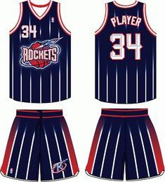 3662da1a9 Houston Rockets Road Uniform 1996-2003 Basketball Hoop