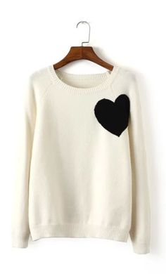 Cute Heart Pattern Sweater