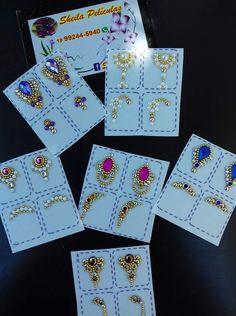 Nails Design With Rhinestones, Nail Jewels, Gem Nails, Diy Nail Designs, Crystal Design, Bridal Nails, 3d Nail Art, Nail Tech, Beauty Nails