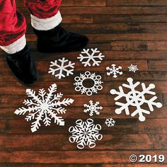 Snowflake Floor Decals White A must-have party accessory for this year's holiday party, winter-themed wedding or theatre performances! These beautiful decals are great Christmas . Snowflake Party, White Snowflake, Snowflakes, Winter Wonderland Party, Winter Onederland, Floor Decal, Christmas Decorations, Holiday Decor, Holiday Ideas