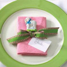 How-To:  Lindt Mini Lamb Easter Place Setting