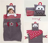 Ravelry: Robot Sleeping bag Blanket Pillow pattern by Briana K Crochet