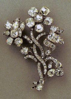 Empress Catherine II's Diamond Spray Brooch.