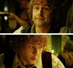 Merry and Pippin's faces when Sam goes over to Rosie.