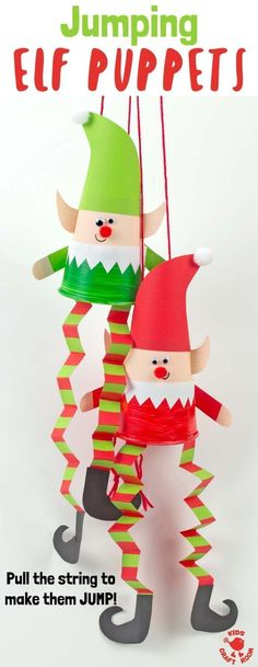Dieses Jumping Paper Cup Elf Puppet Craft macht so viel Spaß. Zieh die Schnur u… This Jumping Paper Cup Elf Puppet Craft is so much fun.Jumping Elf Puppets This Jumping Paper Cup Elf Puppet Craft is so much fun. Pull the string to watch the elves leapA Christmas Crafts For Kids To Make, Preschool Christmas, Christmas Fun, Christmas Ornaments, Christmas Decorations Diy For Kids, Christmas Activities For Toddlers, Childrens Christmas Crafts, Christmas Tattoo, Christmas Paper Crafts