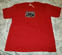 cbf53d44 Supreme Who The F*ck is Supreme tee Red XL SS19 In Hand #Supreme #GraphicTee