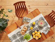 Skinny laMinx Sunshine Table Runner in Graphite. Perfect for adding some sunshine into your dining room. Table Centerpieces, Our Love, Graphite, Table Runners, Sunshine, Dining Room, Skinny, Tablecloths, Tableware