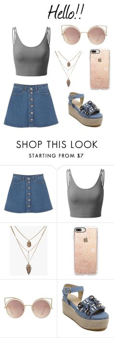 """Día de amigas"" by caluums on Polyvore featuring moda, Monki, Doublju, Casetify y MANGO"