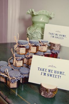 Gingham Jam, #Maine Wedding Favor