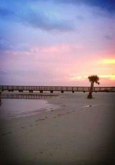 Sunset at Long Beach, Long Beach, Mississippi. Summer of 2013.