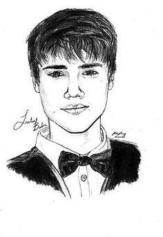 Justin Bieber Suit Drawing by Pierre Louis