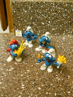 Small Lot of Vintage Smurf PVC Figures 1980's by doyourememberwhen, $15.00