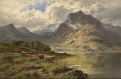 Pastoral painting of Loch Maree, Wester Ross Scotland . by Henry Deacon Hilliyard Wester Ross, Lawrence Alma Tadema, Beautiful Paintings, Great Britain, Country Holidays, Scotland, Original Paintings, Gallery, British