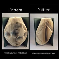 Folded Book Art Pattern   2 BALLS Football Rugby by TheGiftLibrary