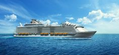 Royal Caribbean's Harmony of the Seas, shown here in an artist's drawing, will be the biggest cruise ship in the world when it debuts in April 2016. Description from indystar.com. I searched for this on bing.com/images