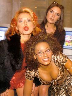 Geri Halliwell, Victoria Beckham, Melanie B, Scary, Ginger, Posh Spice...must recreate...Mckenzie get your boobs ready LOL!!!