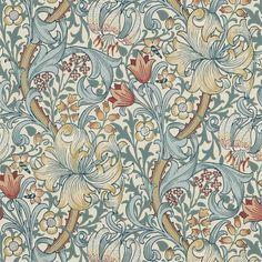 William Morris Wallpaper, William Morris Art, Morris Wallpapers, Craftsman Wallpaper, Estilo Colonial, Lily Wallpaper, Hallway Wallpaper, Arts And Crafts Movement, Tapestry Weaving