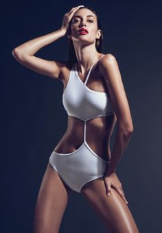 Sexy white cut out swimsuit.♥♥
