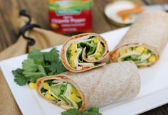Scrumptious Spicy Chipotle Smoked Turkey & Mango Wrap, made extra delicious with Hidden Valley Spicy Chipotle Pepper sandwich spread. Mexican Food Recipes, Healthy Recipes, Ethnic Recipes, Skinny Recipes, Clean Recipes, Delicious Recipes, Wrap Recipes, Dinner Recipes, Bbq Chicken Wraps