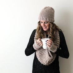 Scarf Gloves Hat Set Knit Bundle от PeonyKnits на Etsy