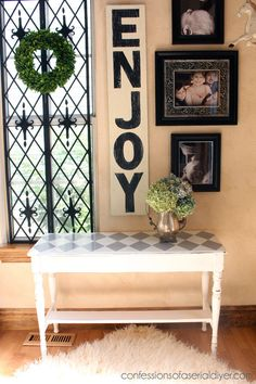 Bench painted with Chalk Paint® Decorative Paint by Annie Sloan