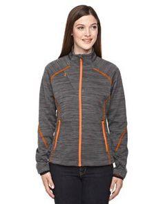 North End Womens Flux Melange Bonded Fleece Jacket (78697) -CRBN/OR SODA -S