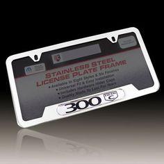 Chrysler 300 Hemi C Chrome Brass License Plate Frame