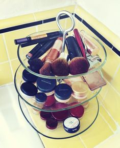 use ikea tiered tray for makeup