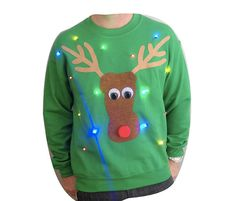 Hey, I found this really awesome Etsy listing at https://www.etsy.com/listing/165862674/light-up-ugly-christmas-sweater-rudolph