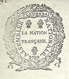 Écu de l'Assemblée Nationale et de la Assemblée Législative de France (1789)