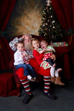 Santa has his hands full!