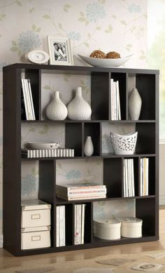 Dark Brown Storage Shelf // Bookshelf or Room Divider