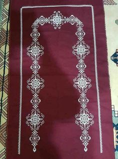 This Pin was discovered by HUZ Blackwork Embroidery, Prayer Rug, Bargello, Embroidery Designs, Diy And Crafts, Prayers, Cross Stitch, Jewelry, Eminem