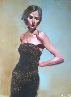 By Michael Carson. Such a beautiful hazy type atmosphere to this piece, and others of his.