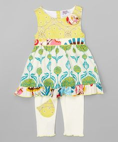 Another great find on #zulily! Yellow Floral Adele Dress & Pants - Infant, Toddler & Girls #zulilyfinds
